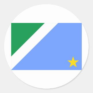 Bandeira de Mato Grosso do Sul, Brasil Adesivo Em Formato Redondo