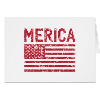 Bandeira de Merica Cartão