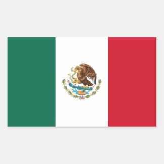 Bandeira de México Adesivo Retangular