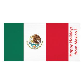 Bandeira de México, boas festas de México Cartão Com Foto