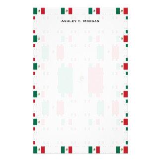Bandeira de México nas camadas coloridas múltiplas Papelaria