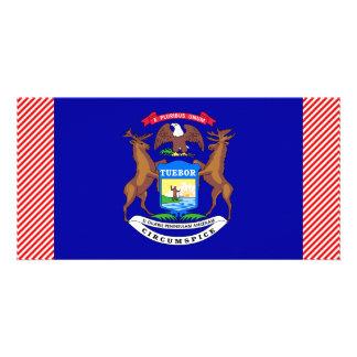 Bandeira de Michigan Cartao Com Fotos