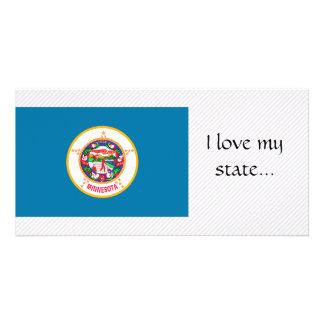 Bandeira de Minnesota Cartao Com Fotos