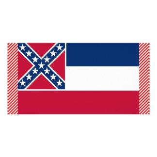 Bandeira de Mississippi Cartões Com Fotos Personalizados