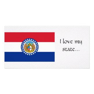 Bandeira de Missouri Cartão Com Foto Personalizado