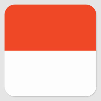 Bandeira de Monaco Adesivo Quadrado