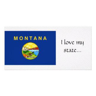 Bandeira de Montana Cartão Com Fotos Personalizado