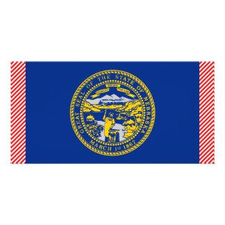 Bandeira de Nebraska Cartoes Com Fotos Personalizados