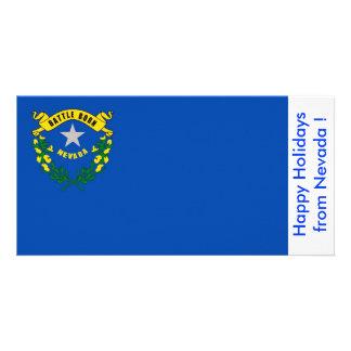 Bandeira de Nevada, boas festas dos EUA Cartão Com Foto