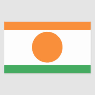 Bandeira de Niger Adesivo Retângular
