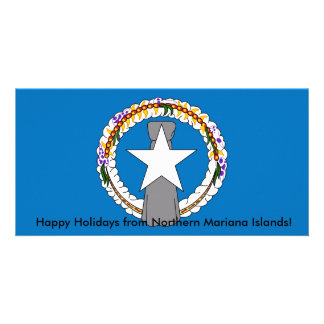 Bandeira de Northern Mariana Islands Cartão Com Foto