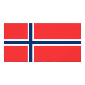 Bandeira de Noruega Cartão Com Foto