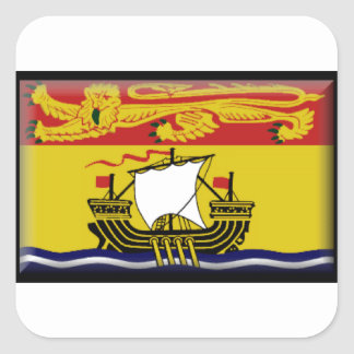 Bandeira de Novo Brunswick (Canadá) Adesivo Em Forma Quadrada