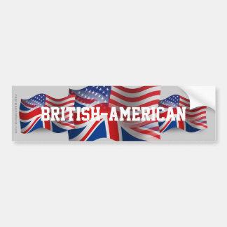 Bandeira de ondulação Britânico-Americana Adesivo Para Carro