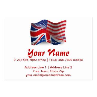 Bandeira de ondulação Britânico-Americana Modelo Cartoes De Visitas