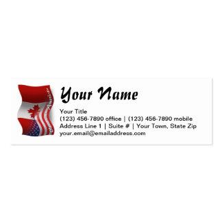 Bandeira de ondulação Canadense-Americana Cartão De Visita Skinny