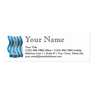 Bandeira de ondulação da piscina cartão de visita skinny
