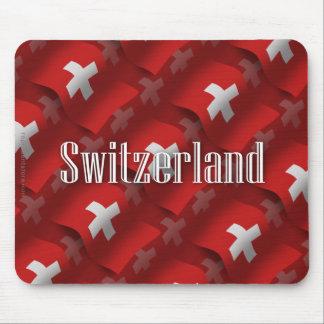 Bandeira de ondulação da suiça mouse pad