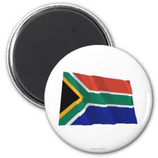 Bandeira de ondulação de África do Sul Ímã Redondo 5.08cm