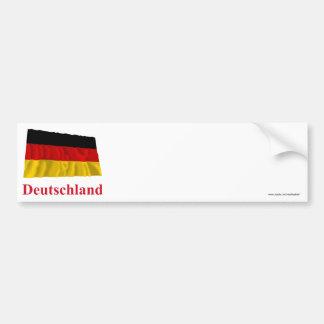 Bandeira de ondulação de Alemanha com nome no Adesivo Para Carro