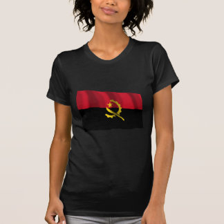 Bandeira de ondulação de Angola Camiseta