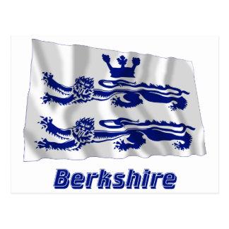 Bandeira de ondulação de Berkshire com nome Cartão Postal