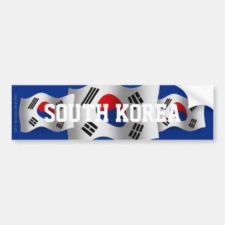 Bandeira de ondulação de Coreia do Sul Adesivo Para Carro