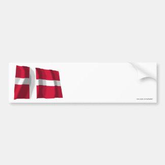 Bandeira de ondulação de Dinamarca Adesivos