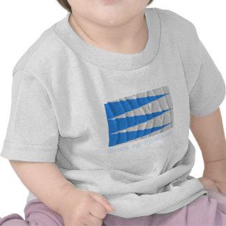 Bandeira de ondulação de Fjordane do og de Sogn co Camisetas