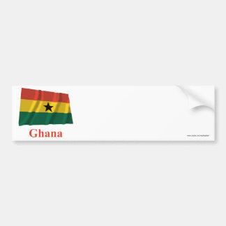 Bandeira de ondulação de Ghana com nome Adesivo Para Carro