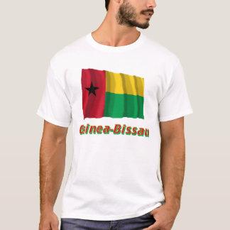 Bandeira de ondulação de Guiné-Bissau com nome Camiseta