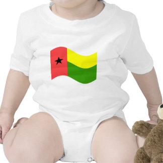 Bandeira de ondulação de Guiné-Bissau Macacão