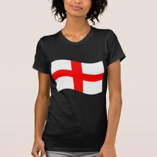 Bandeira de ondulação de Inglaterra Camisetas