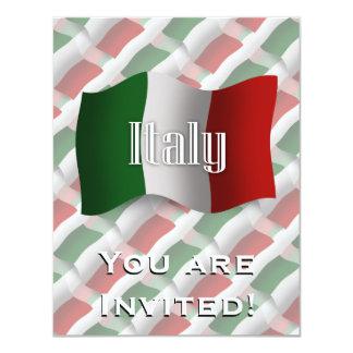 Bandeira de ondulação de Italia Convite 10.79 X 13.97cm
