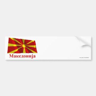 Bandeira de ondulação de Macedónia com nome no mac Adesivo Para Carro