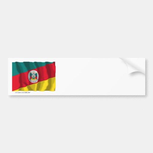 Bandeira de ondulação de Rio Grande do Sul, Brasil Adesivo