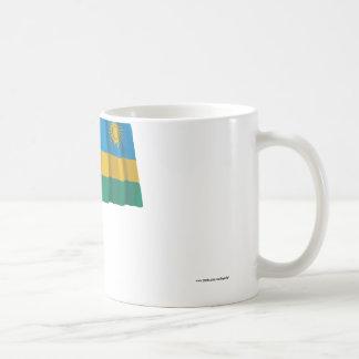 Bandeira de ondulação de Rwanda Caneca De Café