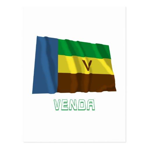 Bandeira de ondulação de Venda com nome Cartoes Postais