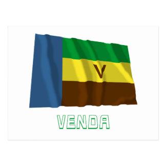 Bandeira de ondulação de Venda com nome Cartão Postal