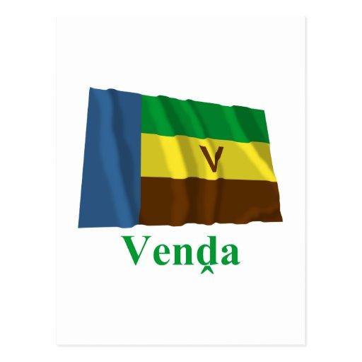 Bandeira de ondulação de Venda com nome em Venda Cartao Postal