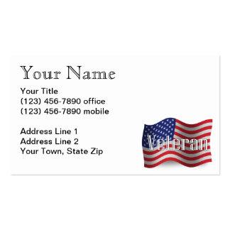 Bandeira de ondulação do veterano dos Estados Cartão De Visita
