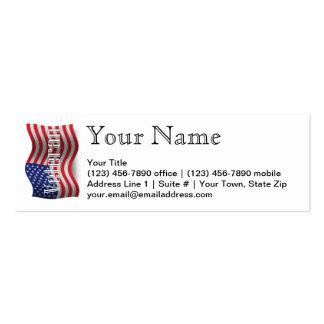 Bandeira de ondulação do veterano dos Estados Cartão De Visita Skinny