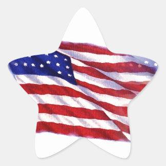 Bandeira de ondulação dos E.U. Adesito Estrela