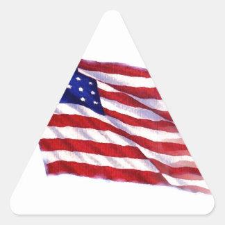 Bandeira de ondulação dos E.U. Adesivo Triangular