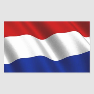 Bandeira de ondulação dos Países Baixos Adesivo Retangular