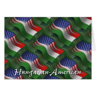 Bandeira de ondulação Húngaro-Americana Cartão Comemorativo