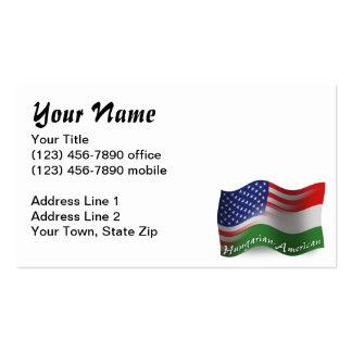 Bandeira de ondulação Húngaro-Americana Cartão De Visita