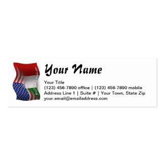 Bandeira de ondulação Italiano-Americana Cartão De Visita Skinny