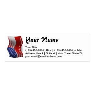 Bandeira de ondulação Polimento-Americana Cartão De Visita Skinny