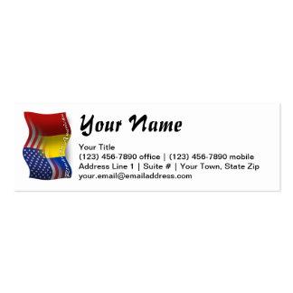 Bandeira de ondulação Romeno-Americana Cartão De Visita Skinny